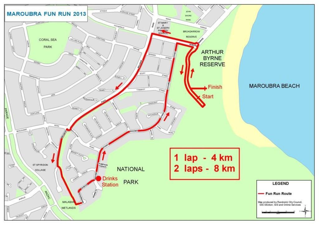 Maroubra Fun Run Route 2013 (FILEminimizer)